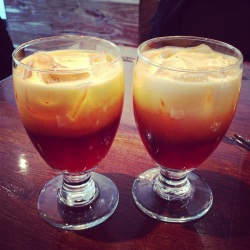 Thai Iced Tea, the perfect start to our meal!