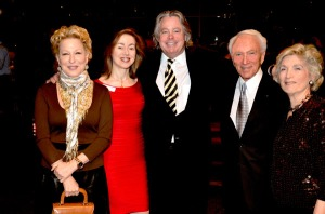 (L-R) Bette Midler, C-CAP President Susan Robbins, Michael McCarty, C-CAP Founder and Chairman Richard Grausman, Susan Grausman.