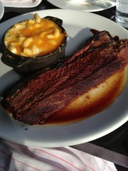 Beef Brisket with side of Mac and Cheese