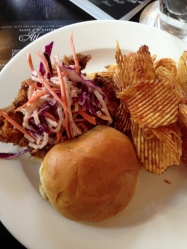 Chicken Fried Chicken with chips and coleslaw