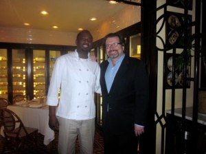 Executive Chef Swainson Brown (Left0. Picture courtesy of Pasta's Kitchen