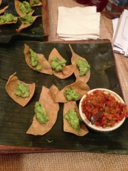 Guacamole, salsa and chips from Bodega