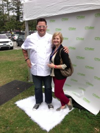 Half of FP posing with Graham Elliot at Greenwich Wine & Food