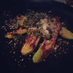 Wood Oven Grilled Local Zucchini