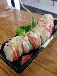 Crab meat sushi