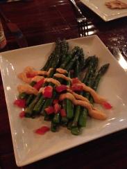 Roasted Asparagus Romesco Sauce