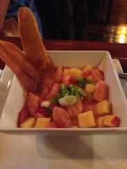 Salmon Mango and Roasted Pepper Ceviche