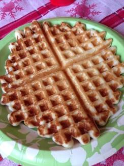 Waffles for breakfast!