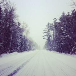 Snowy roads in Leelanau County