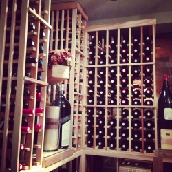 The wine cellar at Patricia's