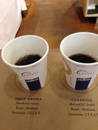 Starting off the tasting with two cups...