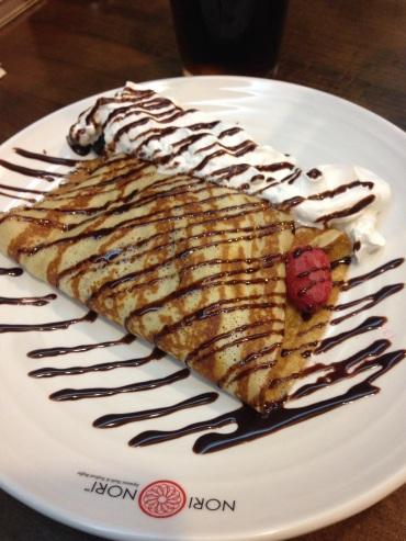 Crepes for dessert!