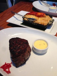 Filet mignon and lobster mac n cheese