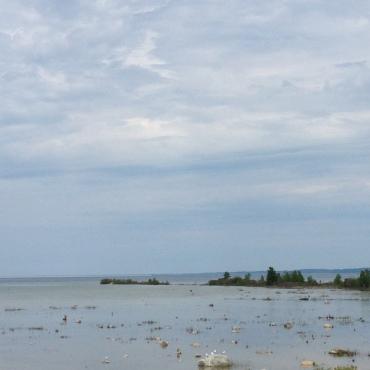 Enjoying Lake Michigan!