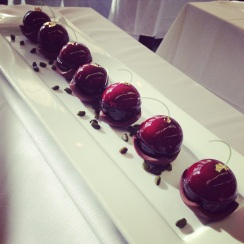 Cherry Tart by Ghaya Oliveira Executive Pastry Chef at Restaurant Daniel