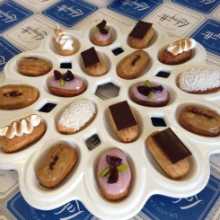 Assorted mini eclairs by Jennifer Yee, Executive Pastry Chef at Lafayette