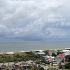 The view from the top of Tybee Island Lighthouse