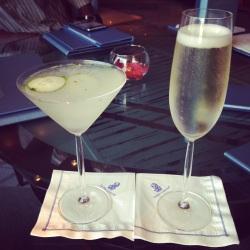 Martini and wine to start!