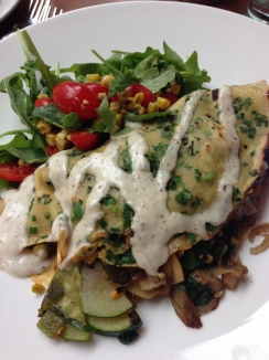 Mixed Vegetable Wild Mushroom Crepe