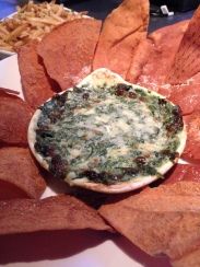Spinach Dip with Pita Chips