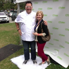 Kristina with Graham Elliot