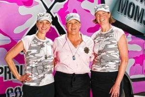 Military Moms Team: Michele Bajakian, Carol Rosenberg,  and Wendy Newman (L-R)