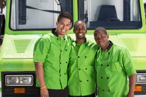 Team Gourmet Graduates: Roberto Franco, Keese Chess and Julius Searight (L-R). Photo courtesy of the Food Network
