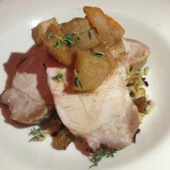 Pan roasted pork chop