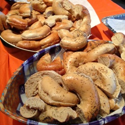 Pre-ride bagels