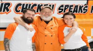 Team Chatty Chicken: Greg Jr., Greg Sr., and Megan.