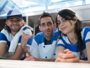 Team Middle Feast: Arkadi Kluger, Tommy Marudi and Hilda Marudi (L-R). Picture courtesy of Food Network.