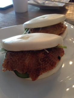 House Special Buns (Duck, cucumber and scallions with hoisin sauce)