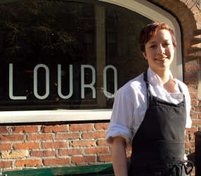 Emily Chapman, Sous Chef at Louro. Photo credit to Michael Tulipan