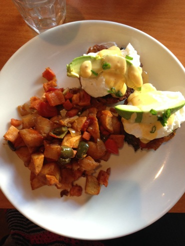 Quinoa Sweet Potato Benedict