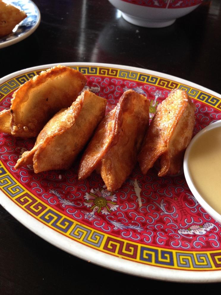 Pretzel Pork and Chive Dumplings