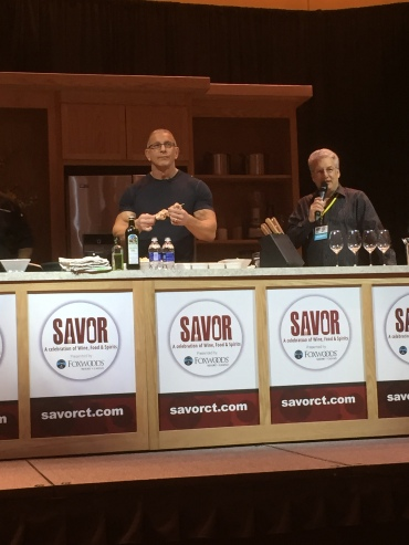 Robert Irvine and Marc Summers working the audience
