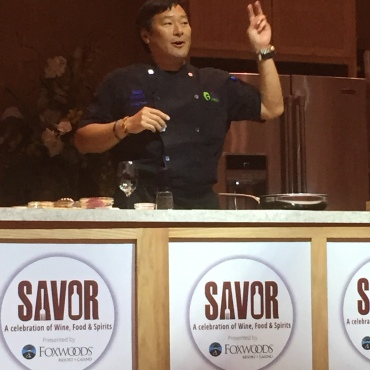 Ming Tsai engaging the crowd
