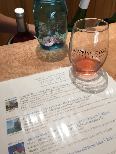 Wine tasting at Skipping Stone Cellars