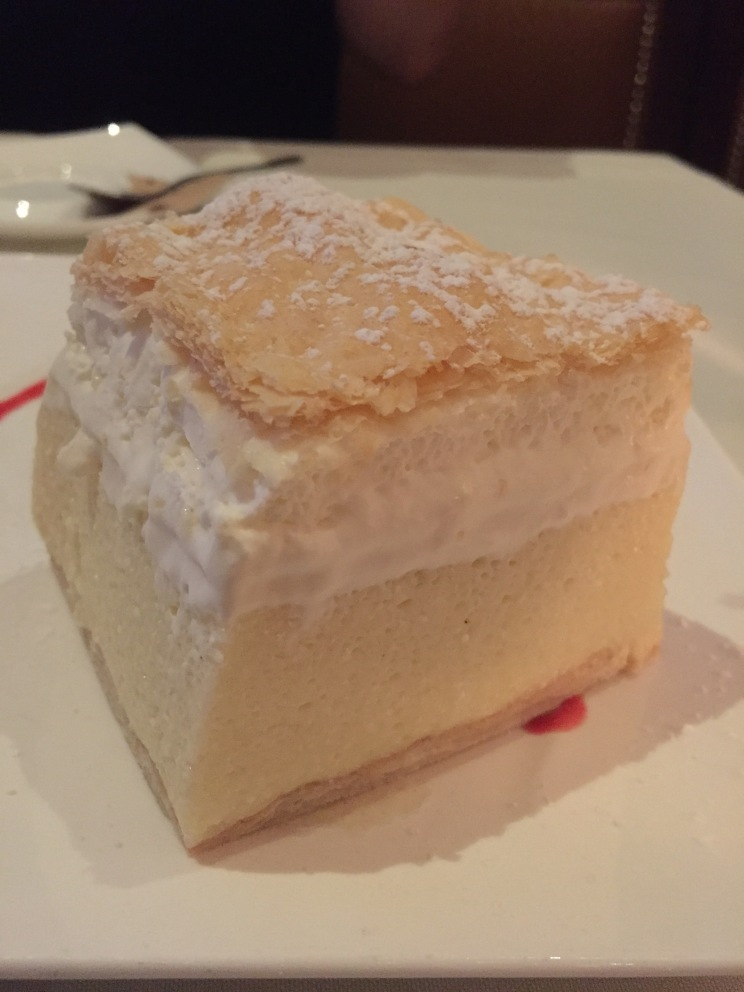 Kremshnita aka crispy puff pastry with vanilla custard