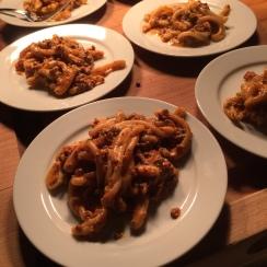 Pasta in meat sauce