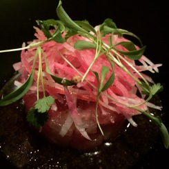 Tuna Tartare, Asian pear, radish, soy mustard