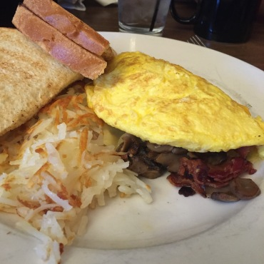 Omelette and home fries