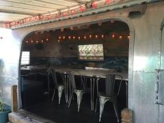 Outdoor seating at Hullabaloo