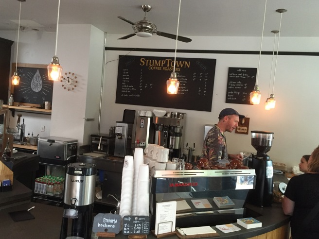Inside the original Stumptown Coffee Roasters location