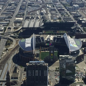 Stadiums from the Columbia Center