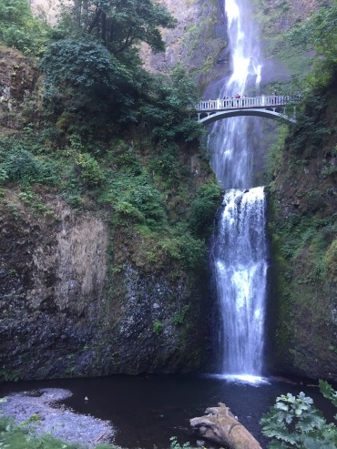 View from bottom of Multnomah Falls